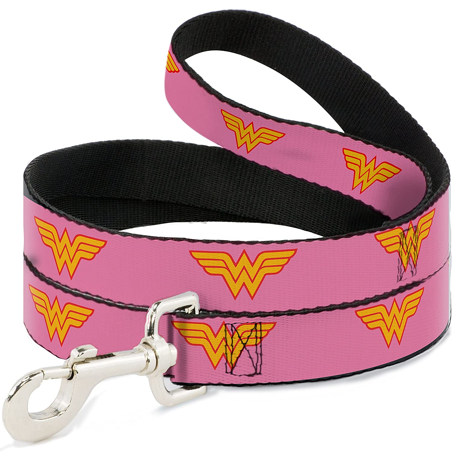 6' Buckle-Down DL-6FT-WWW002 Dog Leash, Wonder Woman Logo Pink, 6'