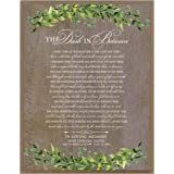 LifeSong Milestones Personalized The Dash in Between Sympathy Gifts for Loss of Loved one Bereavement Wall Plaque for Loss of Mother Father Child with Leaf Border (Barnwood)