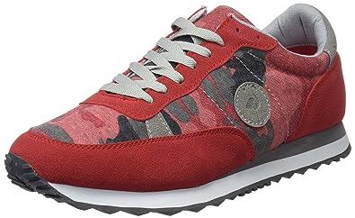 81d7bf4063f7fa El Flamenco Zapatos Deporte Caballero Tejido Camuflaje, Chaussures de  Fitness Homme, Rouge (Rojo