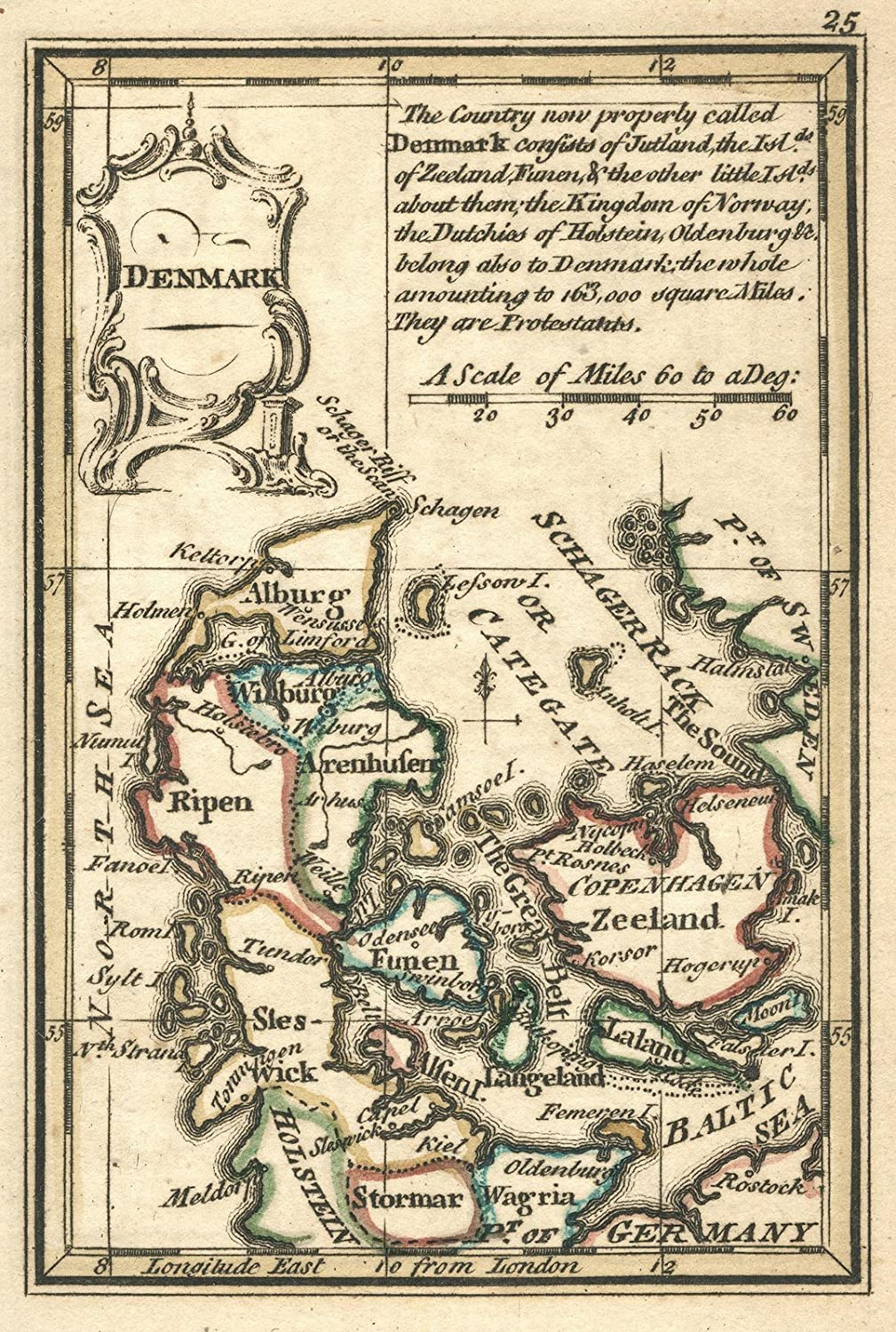Amazon.com: 1758 World Atlas | Denmark. (to accompany) Atlas Minimus ...