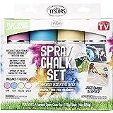 Testors 306006 Spray Chalk, 4 Color Kit