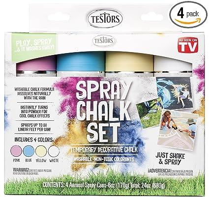 amazon com testors 306006 spray chalk 4 color kit home improvement