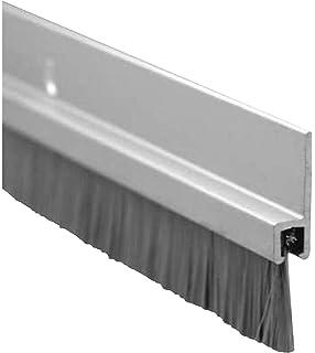 Aluminum 1.5 Width 36 Length Pemko 085650 345ANB36 Brush Seal Aluminum Container with Rain Drip