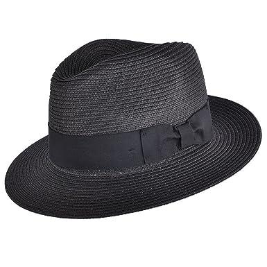 183c009f366 MAZ Unisex Paper Straw Crushable Foldable Summer Panama Fedora Hat with Band  and Adjustable Sweatband in 8 Colours  Amazon.co.uk  Clothing