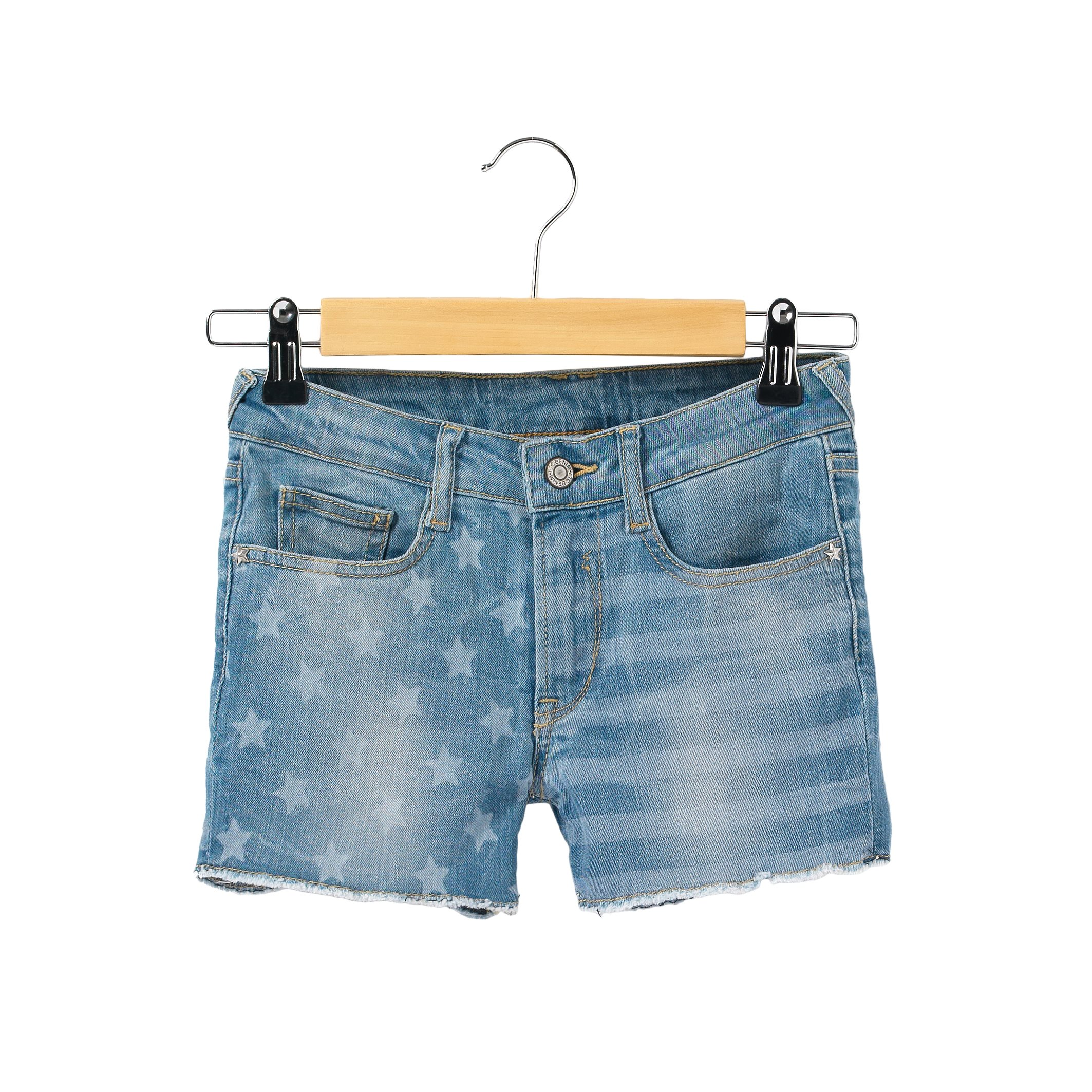 LE TEMPS DES CERISES Big Girls Cotton Denim Shorts, 8-16 Years Blue Size 12 Years - 59 In.