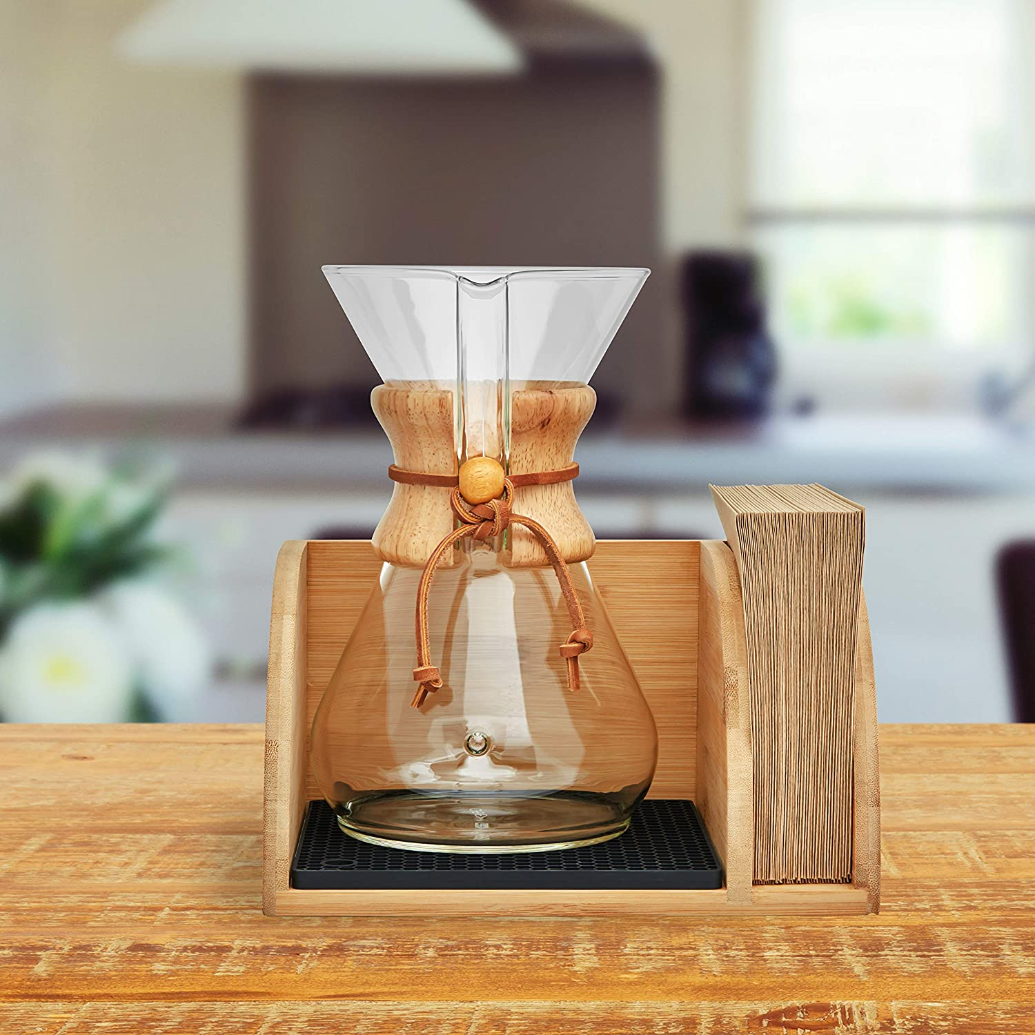Amazon.com: Hoovy Caddy for Chemex Coffeemaker - Bandeja de ...