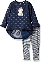 Petit Lem Baby Girls' Poodle and Bows Tunic and Legging Knit