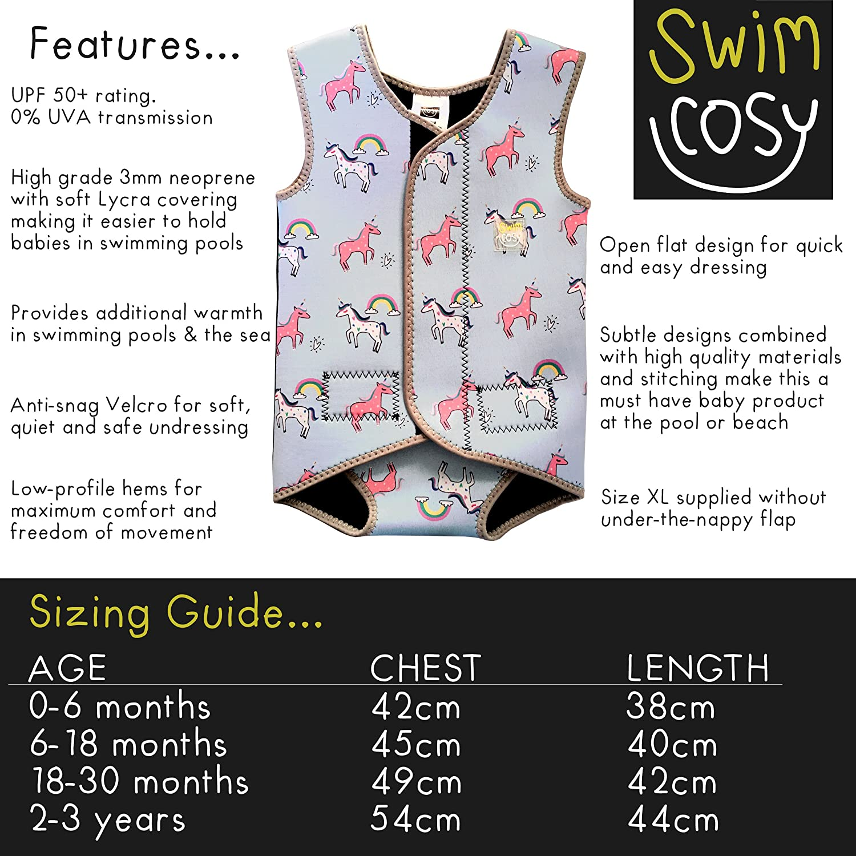 Swim Cosy Baby Toddler Wetsuit Vest With Upf50 Neoprene Wrap