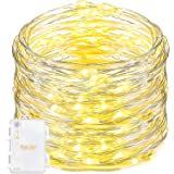String Lights,Oak Leaf 9.8ft 60LEDs Led Starry Silver Wire Decorativ Rope Lights for Bedroom Party Wedding Home DIY,Batteries Powered,Timer Function