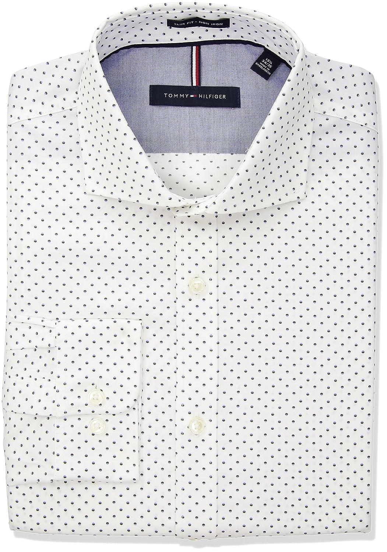 1378d1db Top6: Tommy Hilfiger Men's Non Iron Slim Fit Print Cutaway Collar Dress  Shirt,