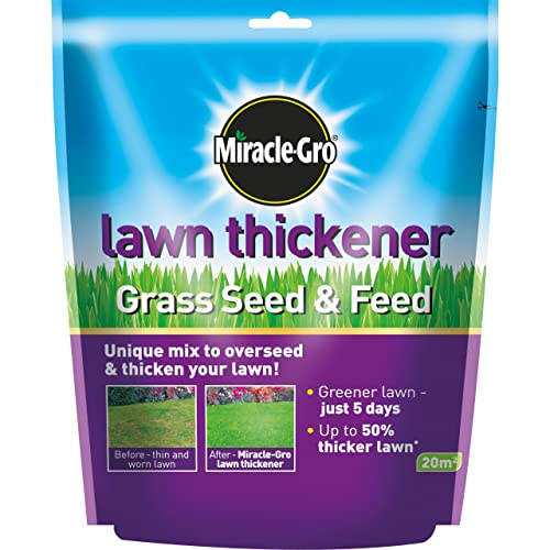 Evergreen Garden Care Ltd Miracle-Gro Lawn Thickener Grass Seed and Feed Bag, 500 g