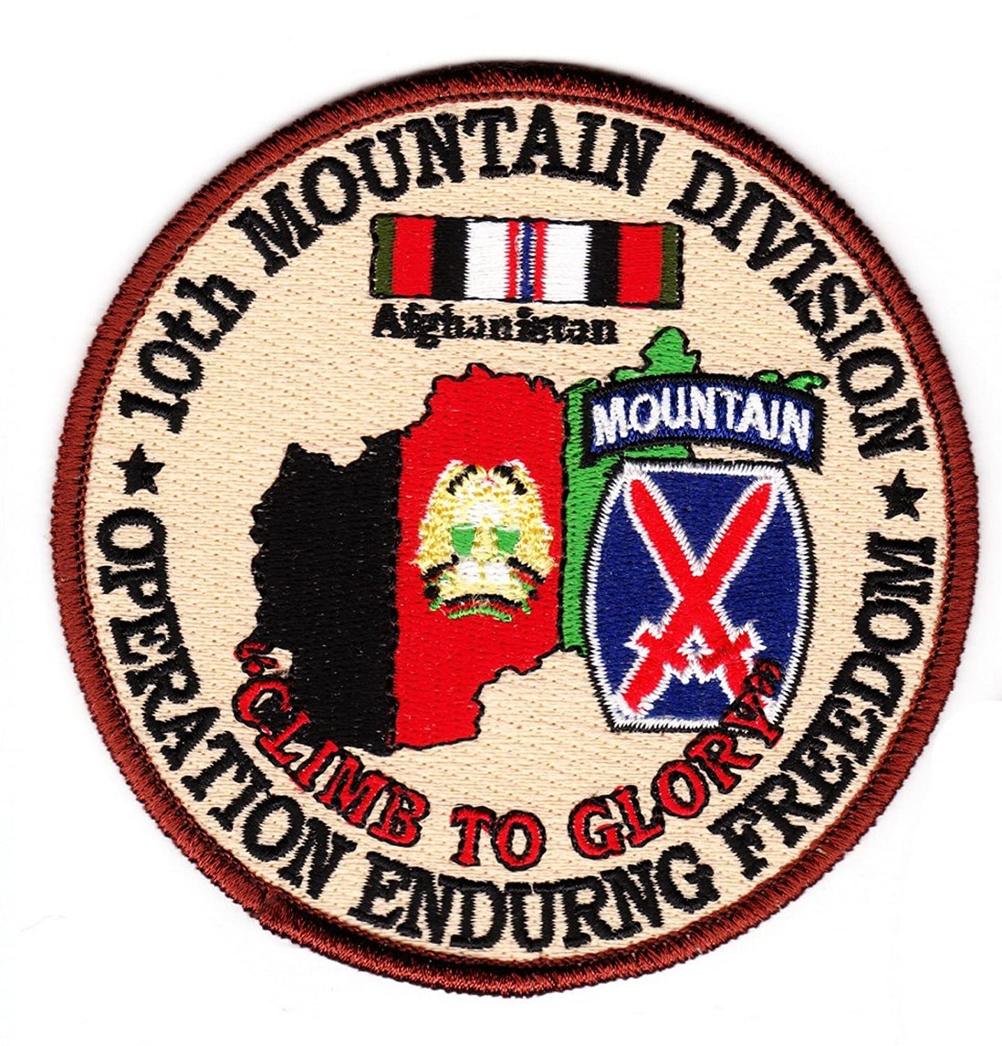 10th Mountain Division Operation Enduring Freedom Patch by Military Productions   B00QUBP4WM