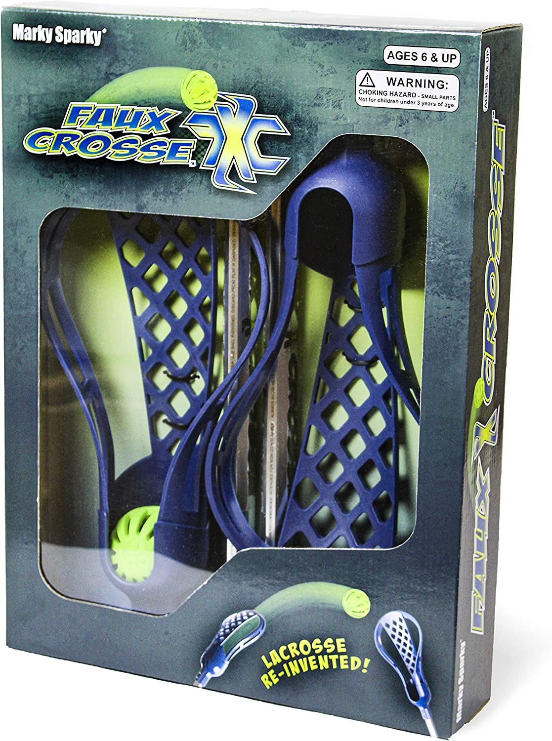 Faux Crosse Easy to Play Lacrosse with Two Crosse Sticks and Ball