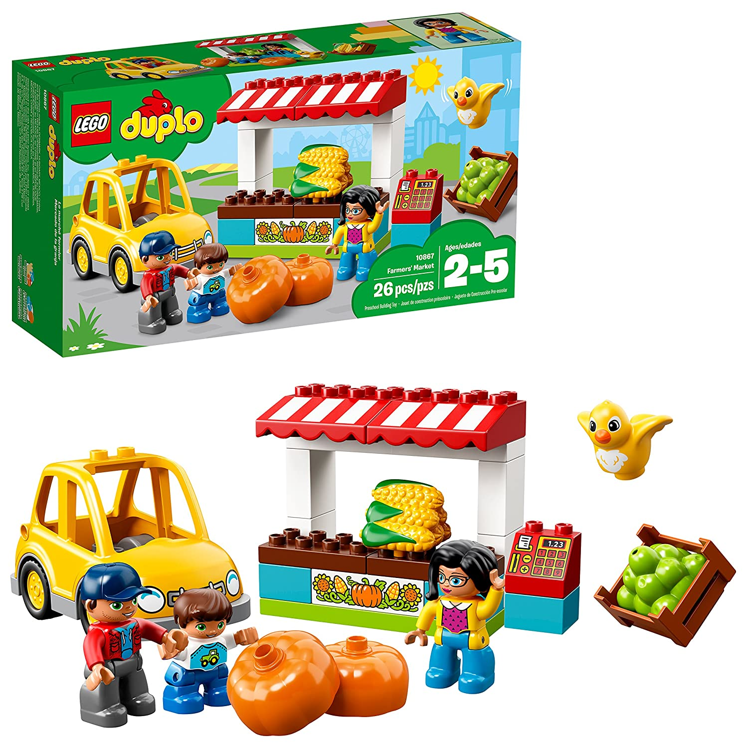 LEGO DUPLO Town Farmers' Market 10867 Building Blocks (26 Piece) 6213555