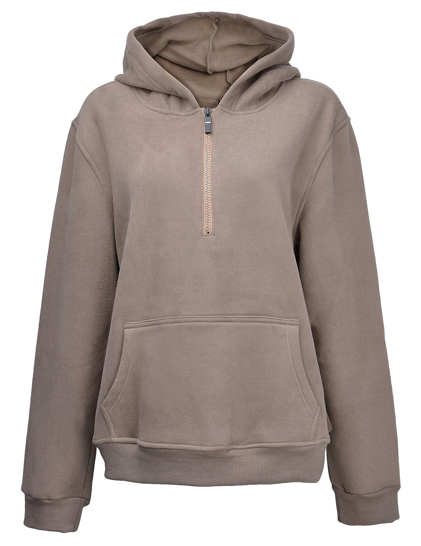 ZLYC Women Basic Fleece Hoodie Sweatshirts Pullover Sweater with Kangaroo Pocket JC-HS-3070_CA