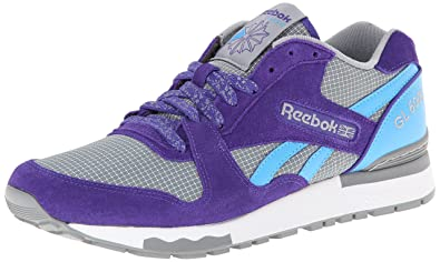 Reebok Mens GL 6000 Classic Shoe Team PurpleFlat GreyCalifornia Blue