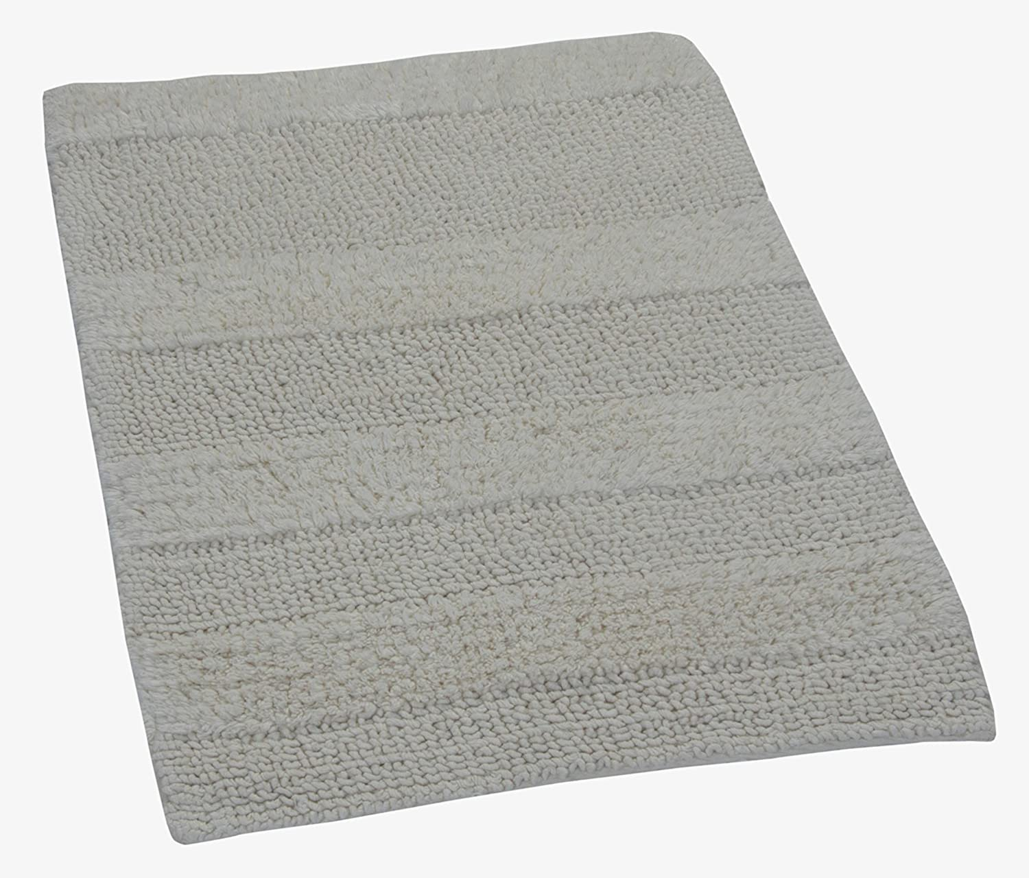 21 by 34-Inch Castle Hill Wide Cut Reversible Bath Rug Ivory