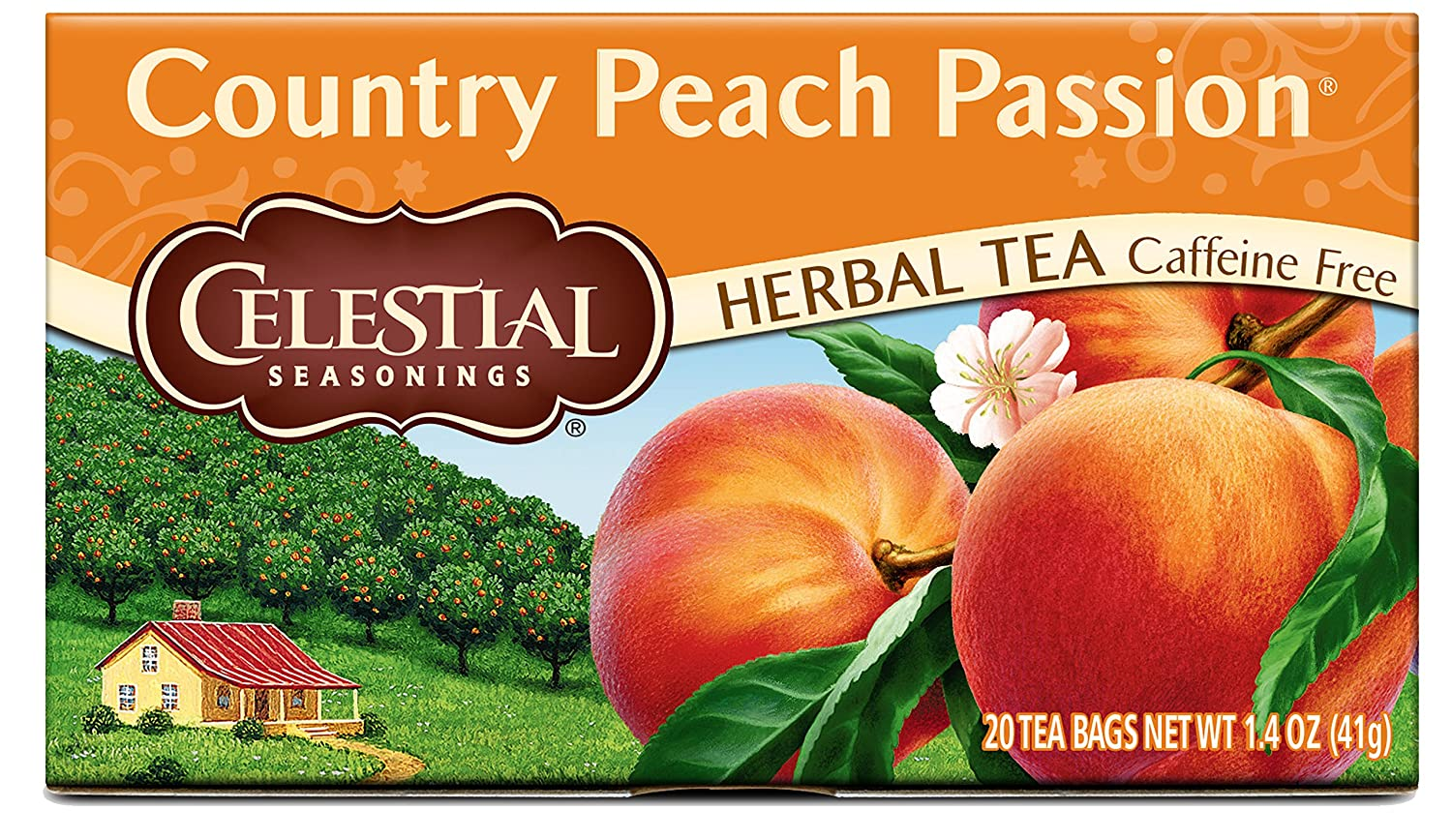 Benefits of herbal peach tea - Amazon Com Celestial Seasonings Herbal Tea Country Peach Passion 20 Count Pack Of 6 Herbal Teas Grocery Gourmet Food