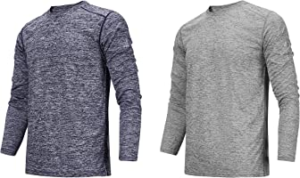 TEXFIT Men's 2-Pack Quick Dry Long Sleeve Shirts, Moisture Wicking (2 pcs Set)