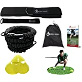 360° Dynamic Speed Resistance and Assistance Trainer Kit 8 Ft. Strength 80 Lb Resistance Running Training Bungee Band (Waist). Solo or Partner. Multi-Sport Maximize Power, Strength, Speed! FREE eBook!