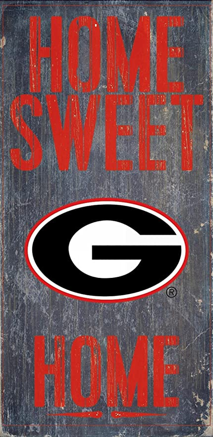 Georgia Bulldogs Wood Sign Home Sweet Home 6x12