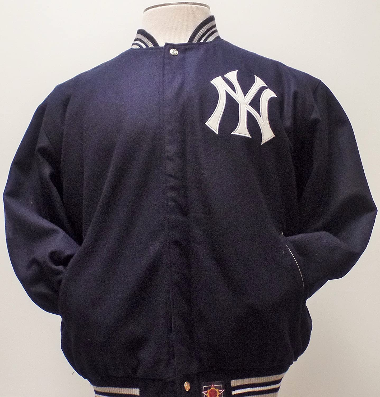MLB New York Yankees azul marino azul botón de lana/satén ...