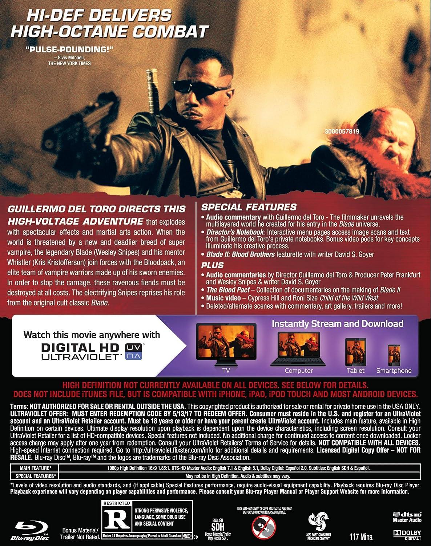 Blade 2 [USA] [Blu-ray]: Amazon.es: Snipes, Wesley ...