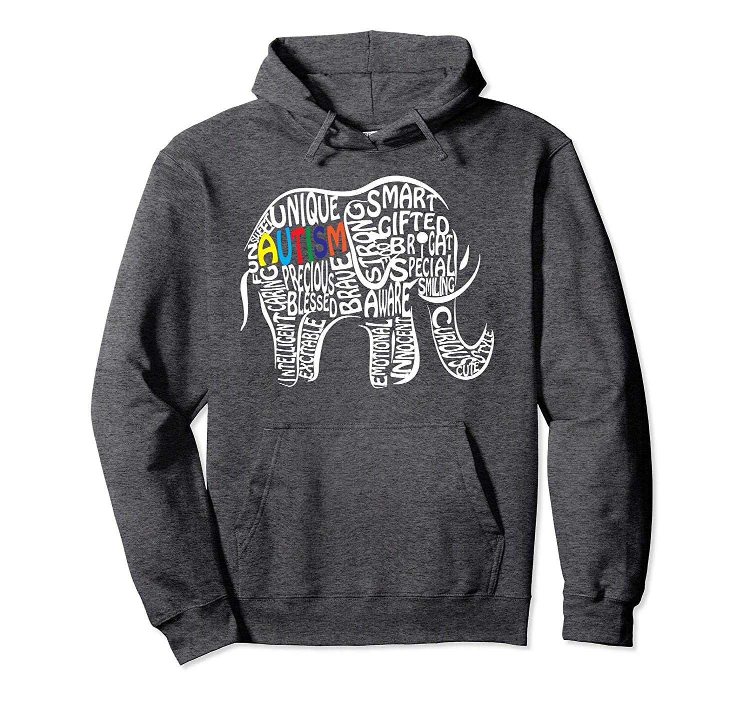 5b4c15d5938a Amazon.com  Autism Awareness Elephant Pullover Hoodie  Clothing