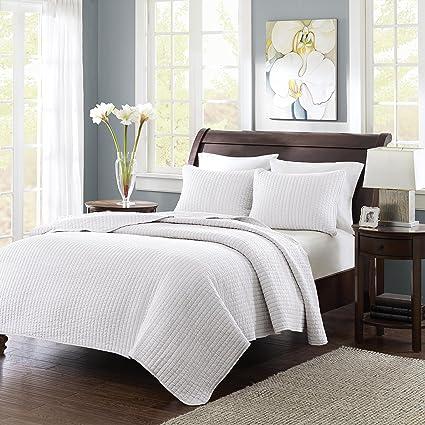 Amazon Madison Park Keaton Fullqueen Size Quilt Bedding Set
