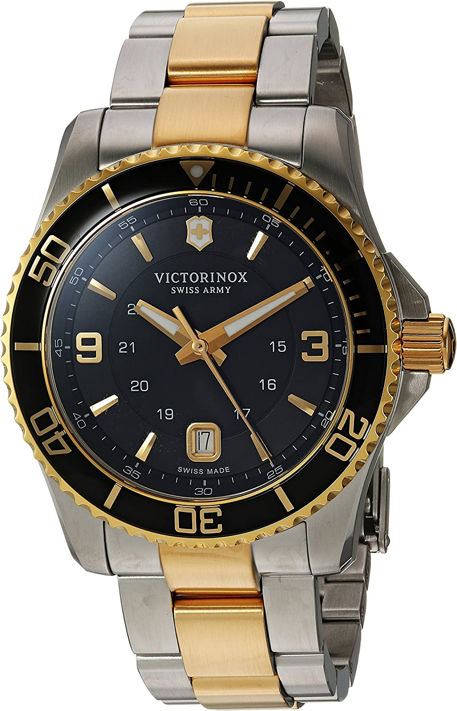Victorinox Men's Maverick Swiss-Quartz Watch with Two-Tone-Stainless-Steel Strap, 22 (Model: 249125)
