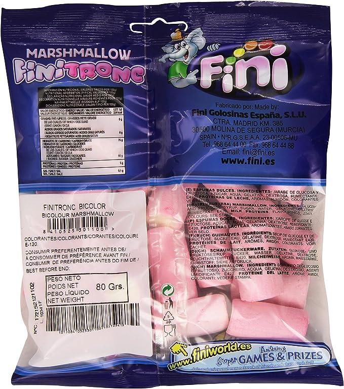 Fini Tronc - Marshmallow - Espumas Dulces, 80 g, paquete de 6: Amazon.es: Alimentación y bebidas