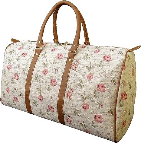 Rose Flower design Tapestry Travel Bag Handbag or Shoulder Bag Signare