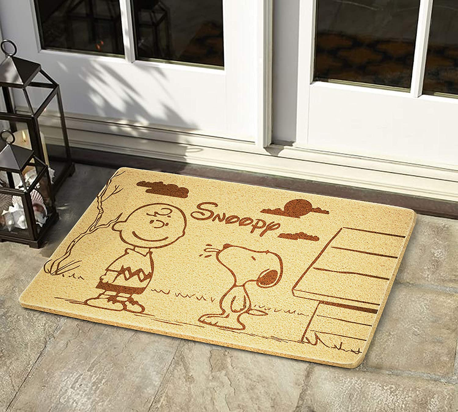 Art Finds Boutique Snoopy Peanuts Movie Size 24x16 inch Outdoor Decor Home Interior Doormat Design Birthday Wedding New House Gift Design