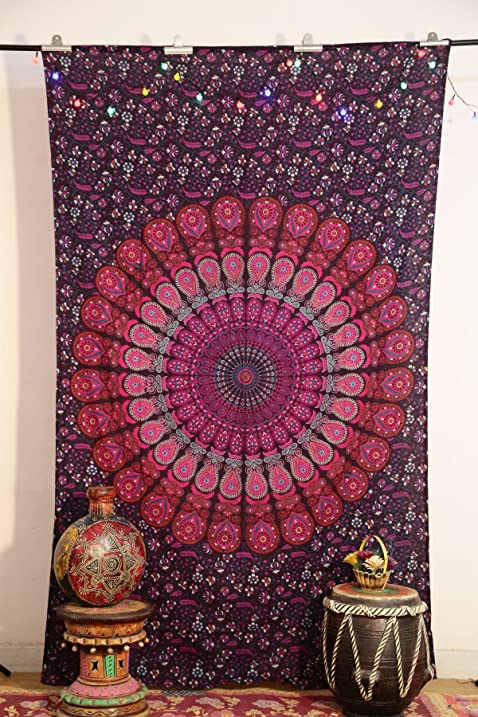 Mandala Tapestry Tapestries, Indian Tapestry, Hippie Tapestry, Indian Wall  Hanging, Indian Bedspread