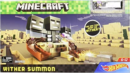 Amazon Com Minecraft Hot Wheels Wither Summon Play Set Toys Games