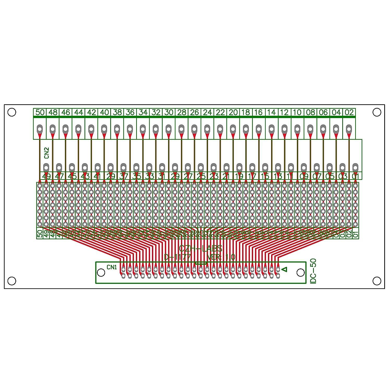 Terminal Block Pitch 0.2 IDC Pitch 0.1 CZH-LABS IDC-26 Male Header Connector Breakout Board Module