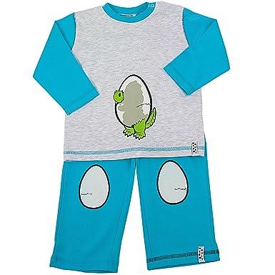 "95593a7d14 natubini Designer Jungs Pyjama, ""keckes Krokodilbaby"", 2-teiliger  Kleinkinder Schlafanzug"