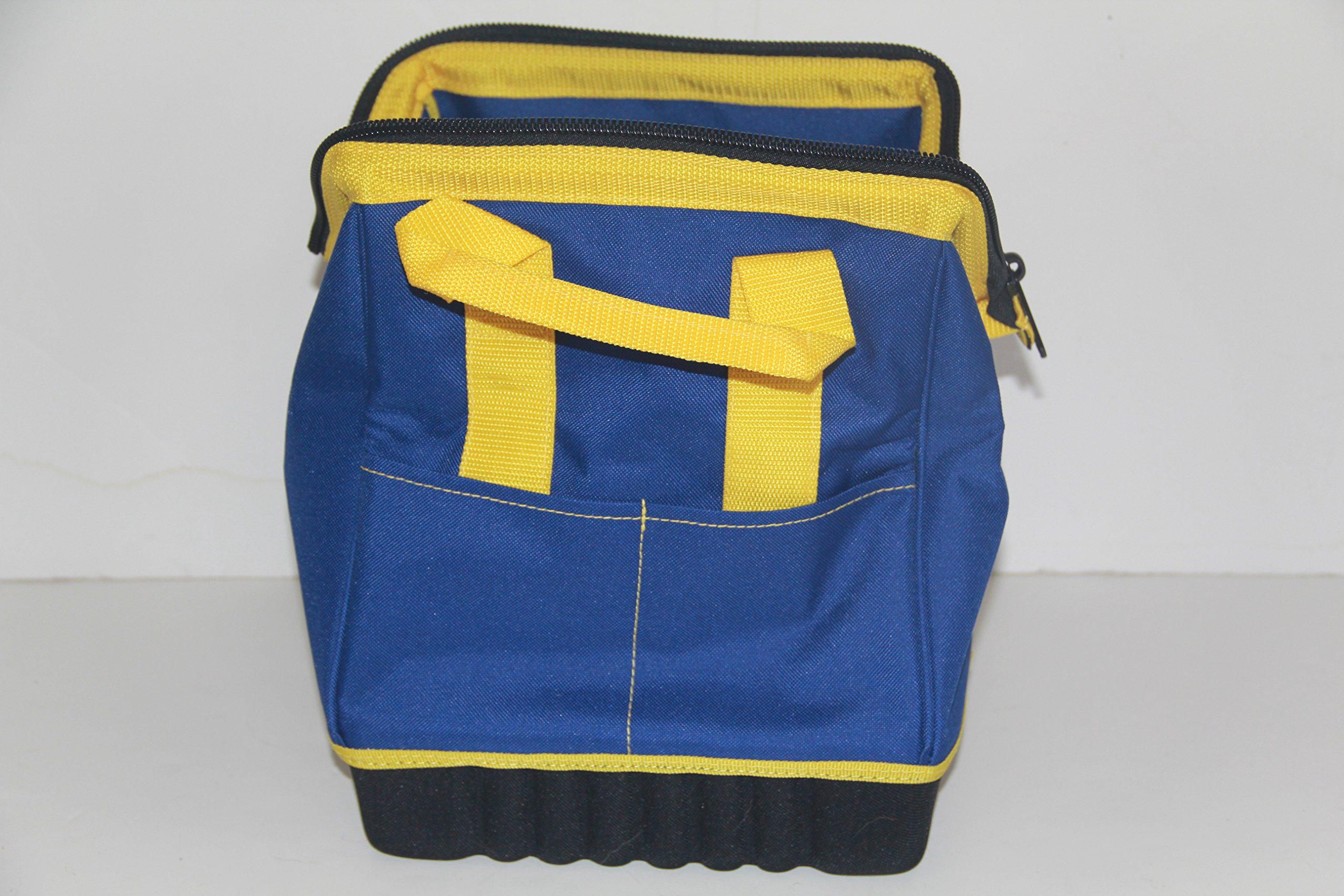 Extra Heavy Duty Nylon Bocce Bag - Blue with Yellow Handles