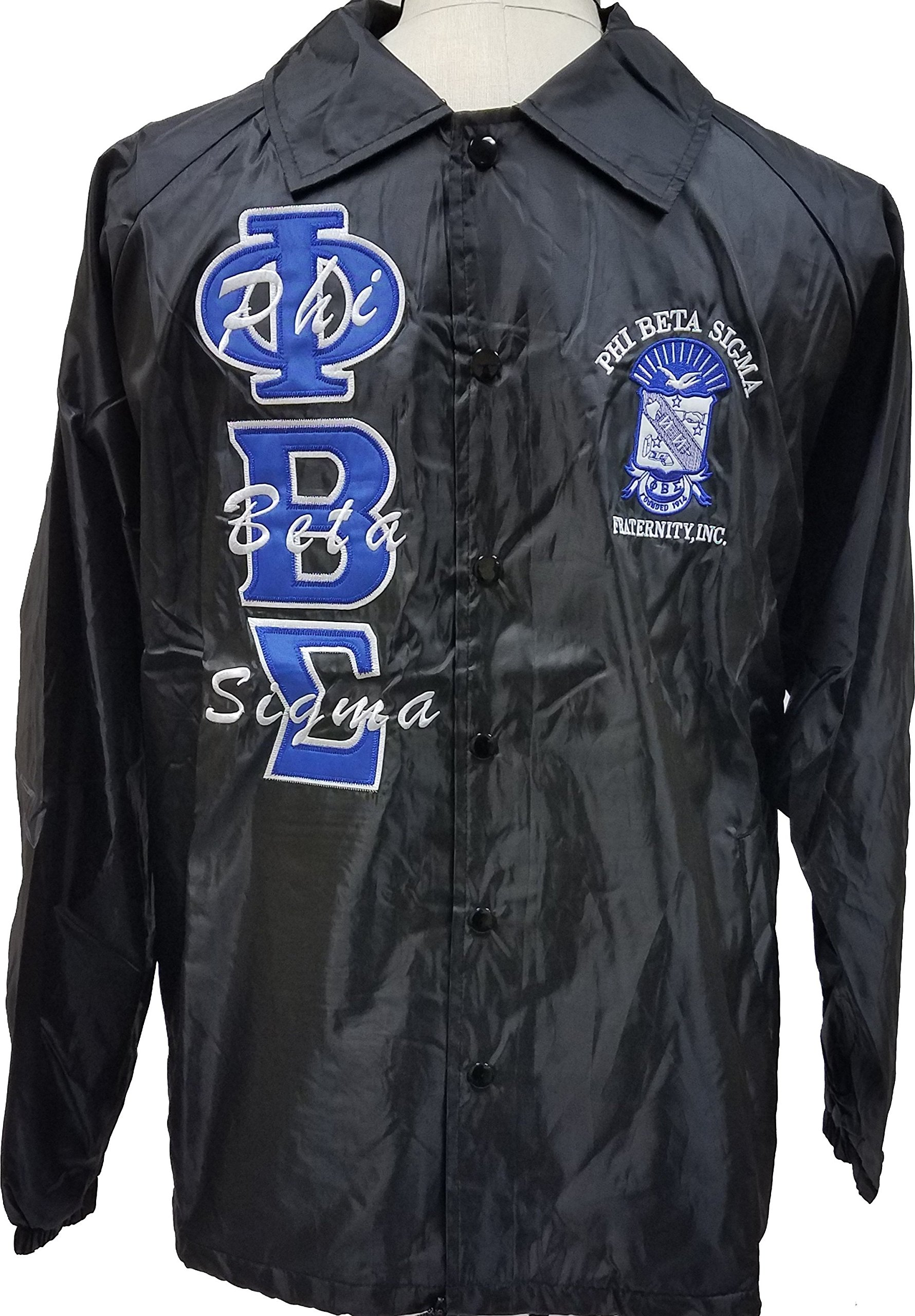 Phi Beta Sigma Mens Crossing Line Jacket [Black - 2XL] by Cultural Exchange