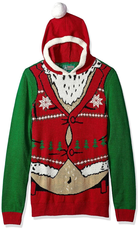 d44fa7bb8ec Ugly christmas sweater company mens hoodie belly santa at amazon mens  clothing store jpg 908x1500 Christmas
