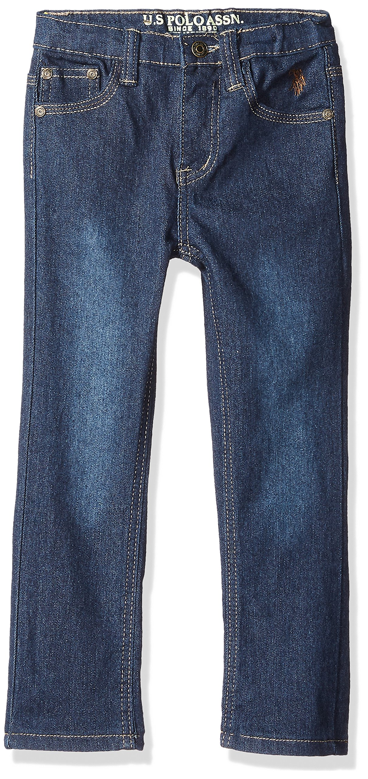 U.S. Polo Assn.. Big Boys' Skinny Jean, Flex Spandex Denim Washed Indigo, 10