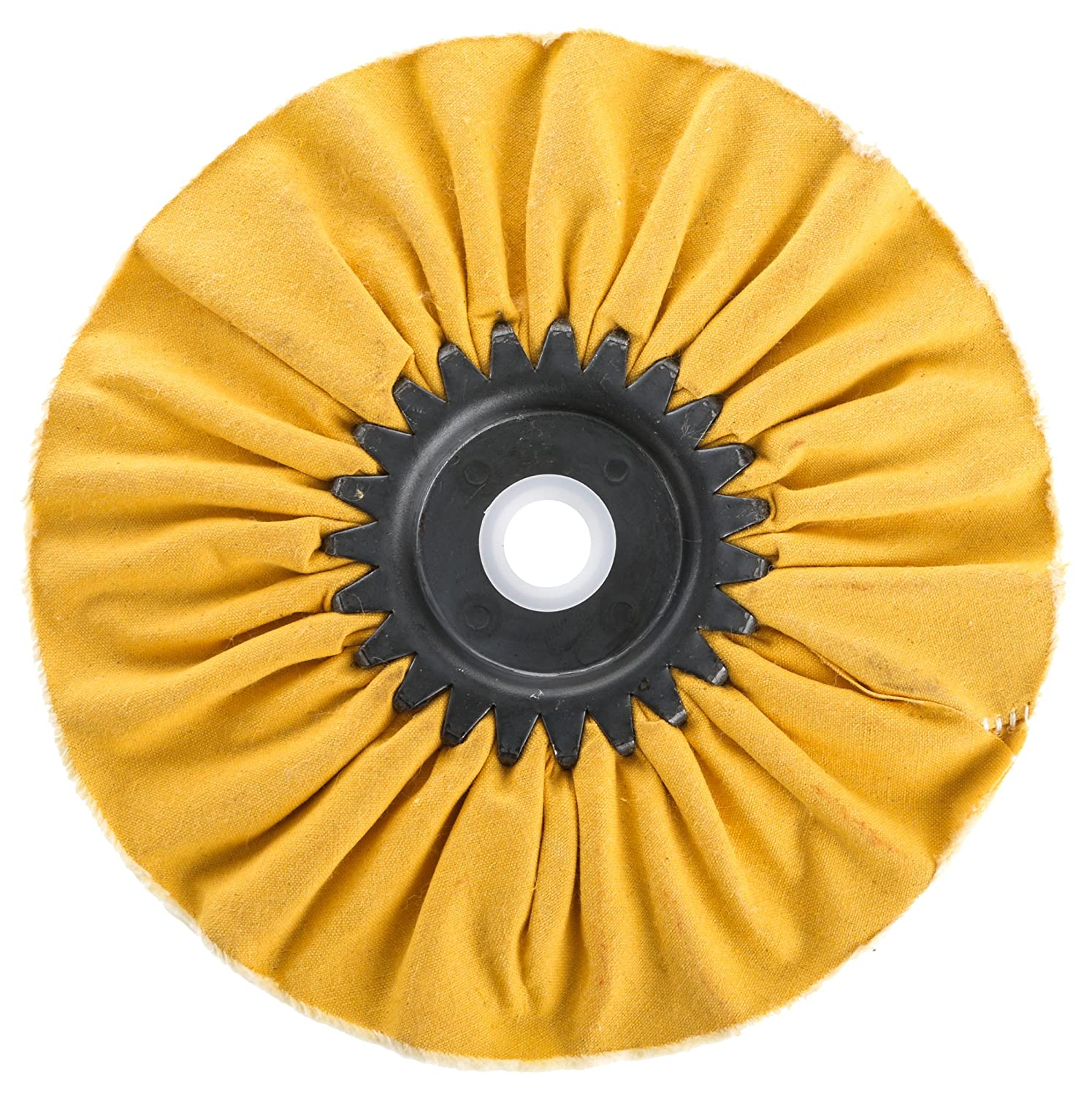 Woodstock D3193 Bias Hard Buffing Wheel Yellow 6-Inch by 5//8-Inch Hole