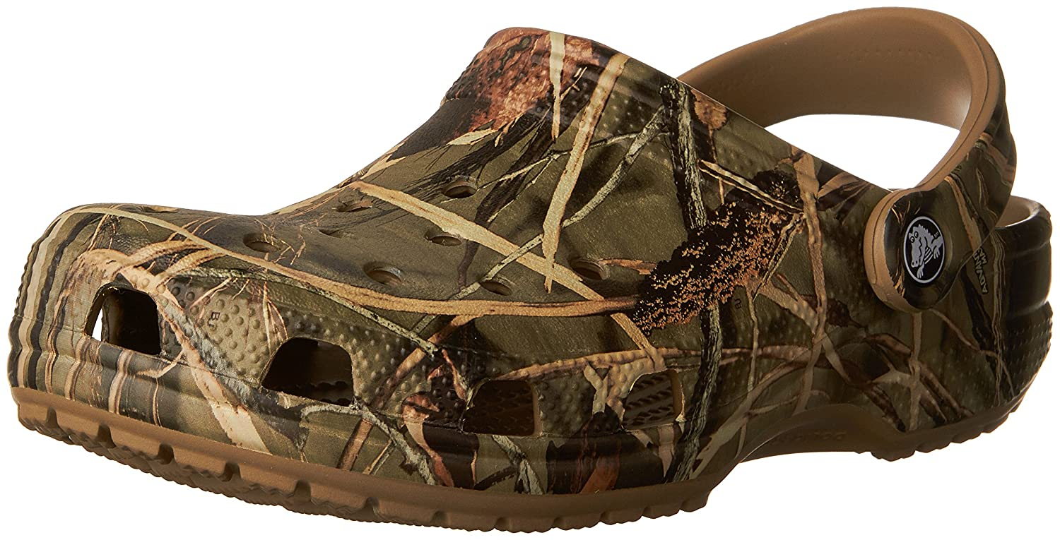 Crocs Men's and Women's Classic Realtree Clog| Comfort Slip On Camo Casual Shoe | Lightweight