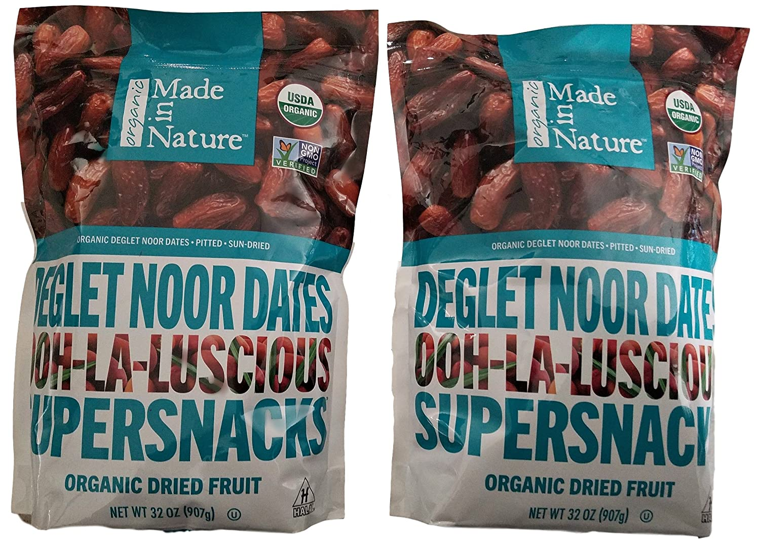 Made in Nature Organic Sun-Dried Deglet Noor Dates (32 Oz (2 Pack))