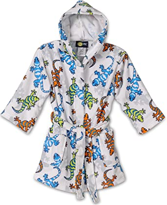 Amazon.com  Komar Kids Shark Ocean Print Cotton Hooded Terry Robe Cover Up 800669895