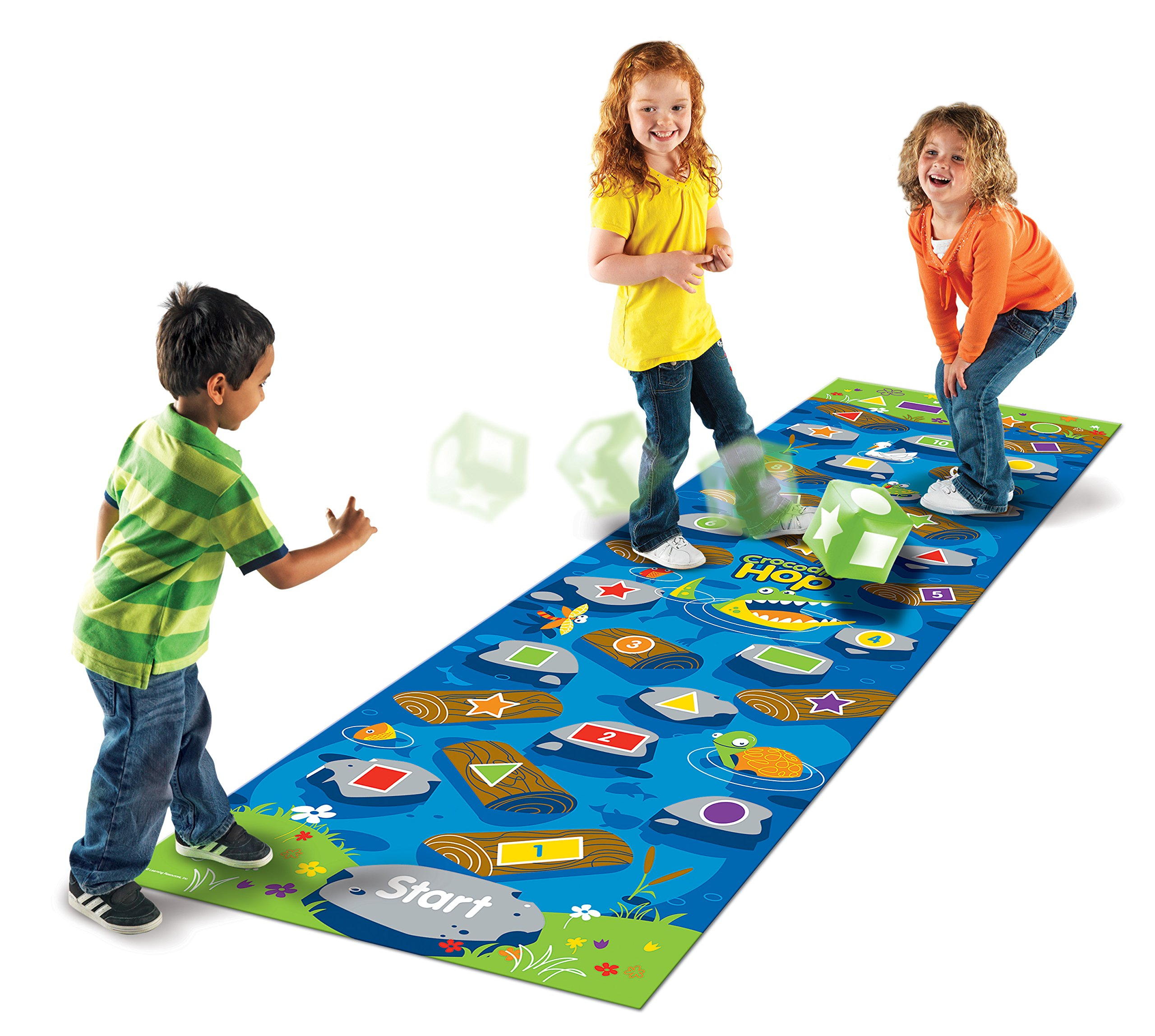 Learning Resources Crocodile Hop Floor Game, Early Learning Skills, Individual Or Group Play, Ages 3+ by Learning Resources (Image #3)
