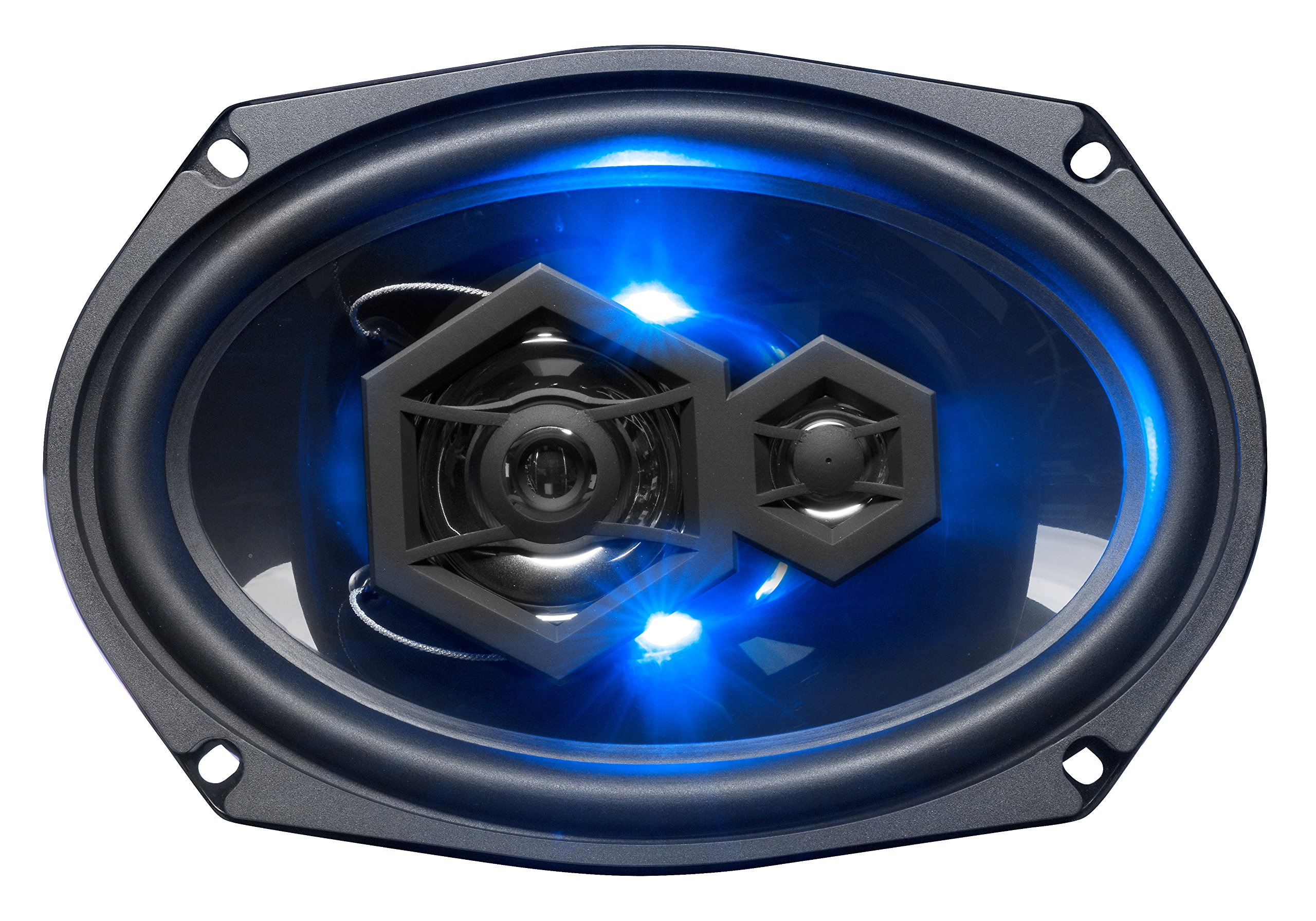 "BOSS Audio B69LED 6"" x 9"" Car Speakers - 300 Watts of Power Per Pair, 150 Watts Each, 3 Way, Sold in Pairs, Easy Mounting"
