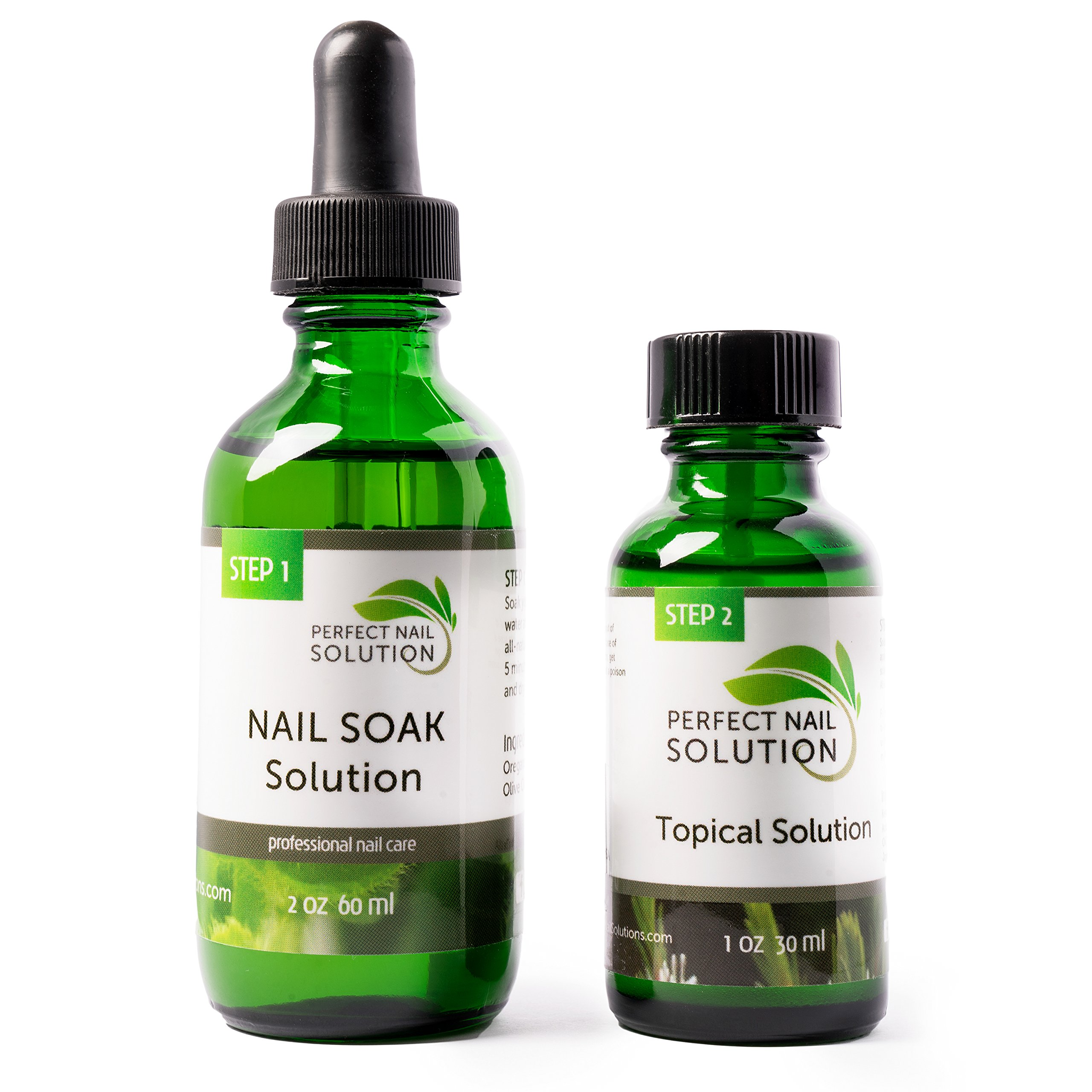 Toenail Fungus Treatment - Natural 2-Step Topical Anti-Fungal Solution with Oregano and Tea Tree Oil - Removes Yellow from Infected Finger & Toe Nails by Perfect Nail Solution