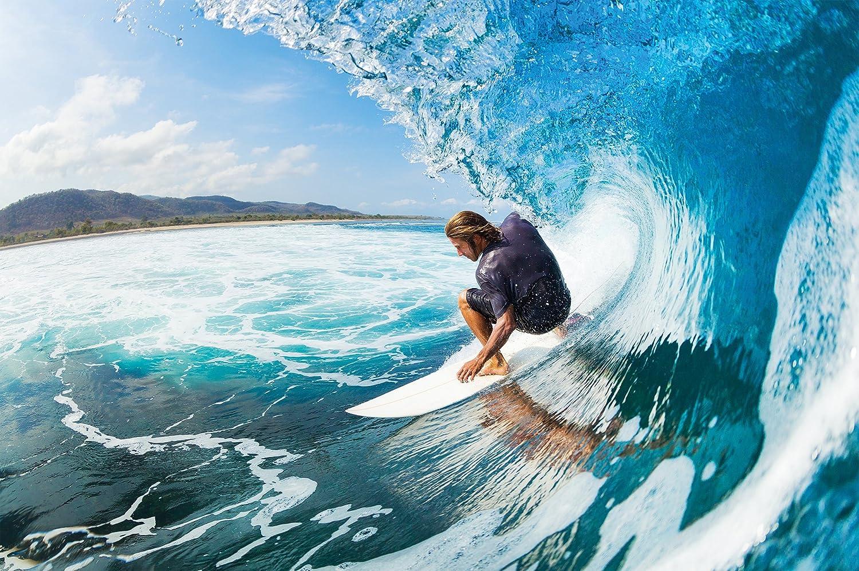Great Art Surfer Wallpaper Wave Wall Decoration Surfboard Poster Surfing Waves Mural Ocean Athlete Beach Lover Adrenaline Junkie 82 7 Inch X 55