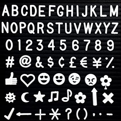 Amazon 34 Letters And Characters For Felt Letter Boards